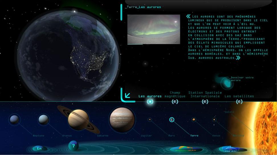 Interactive Northern lights simulator
