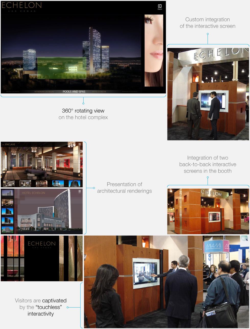 Echelon Hotel presentation touchscreen