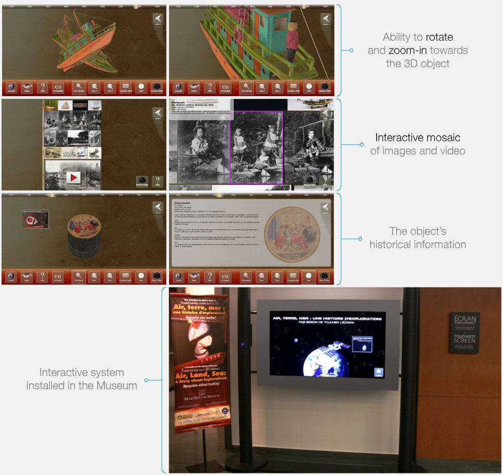 3D Artefacts Manipulation at McCord Museum