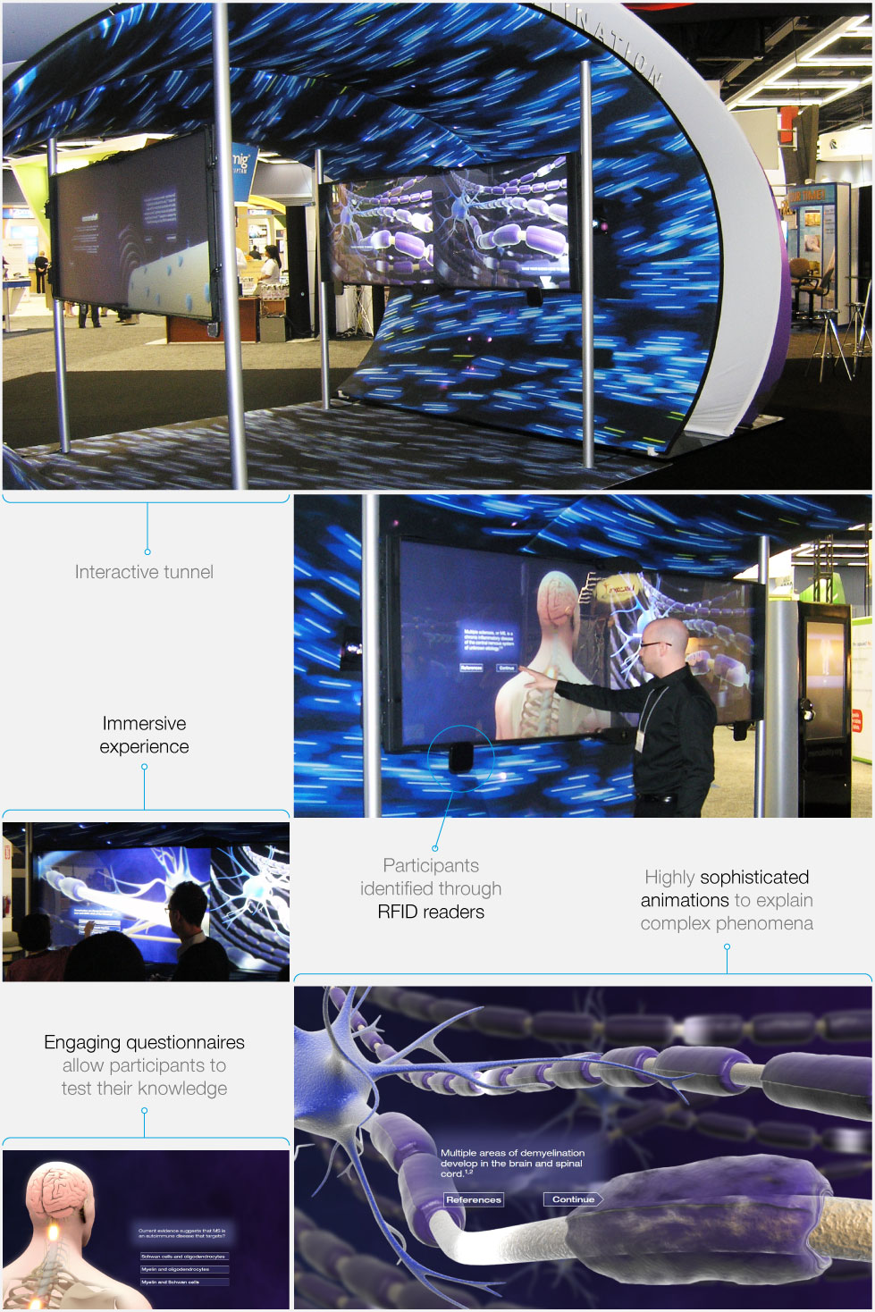 Trade show data collection in an interactive tunnel