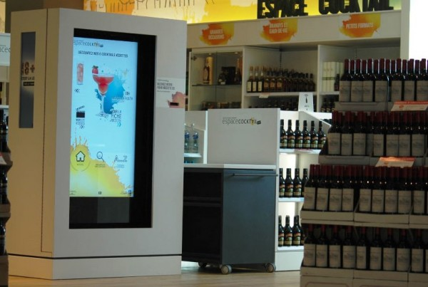 Liquor recipes Interactive kiosk