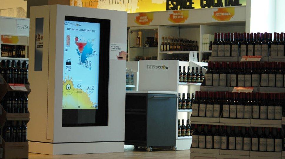 Liquor recipes Interactive kiosk