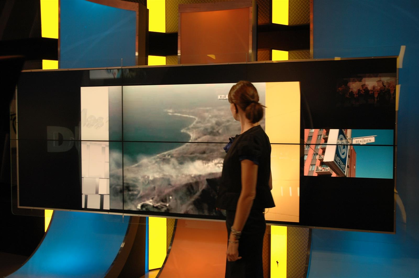TV Show Interactive presenter screen