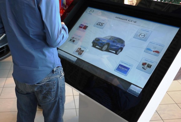 Car dealership interactive screen