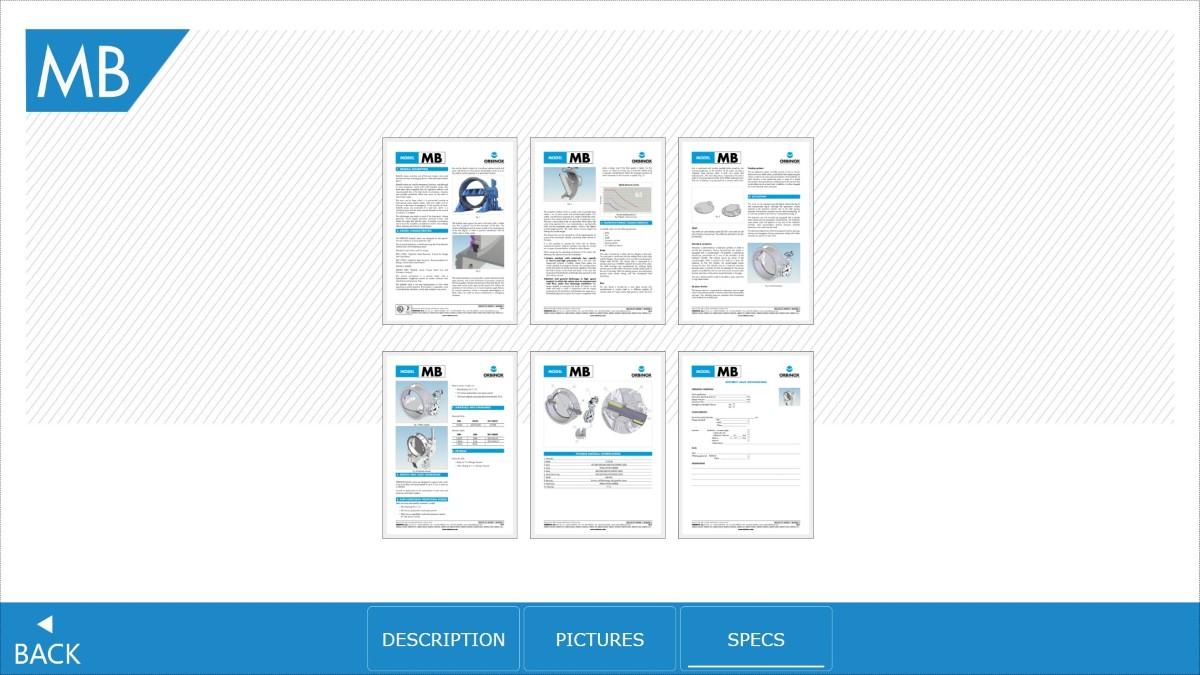 Orbinox app Specs